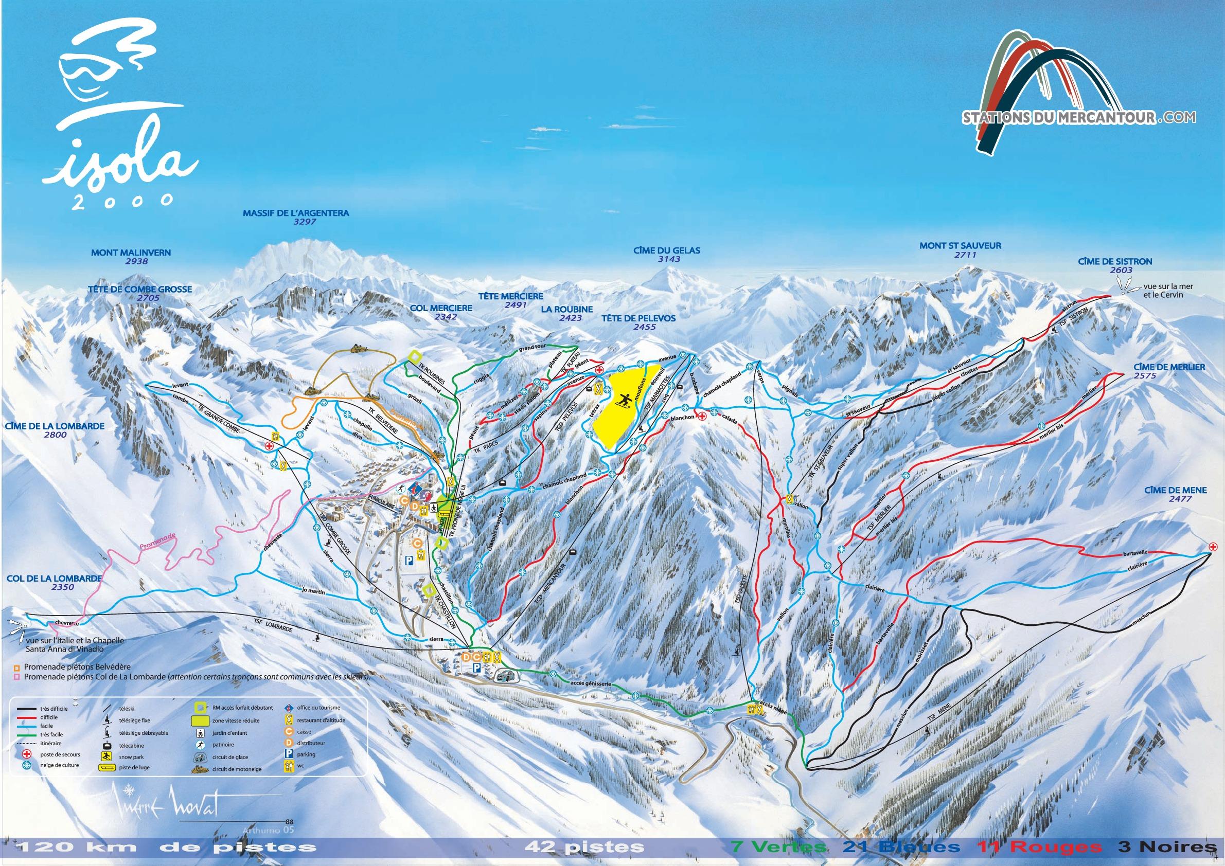 Isola 2000 Ski Resort France Ski Line
