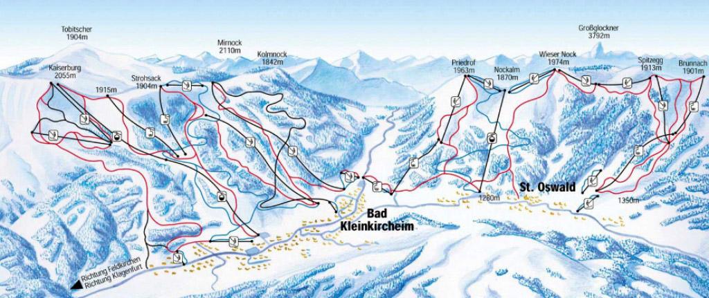 Bad Kleinkirchheim Ski Resort Austria Ski Line 174