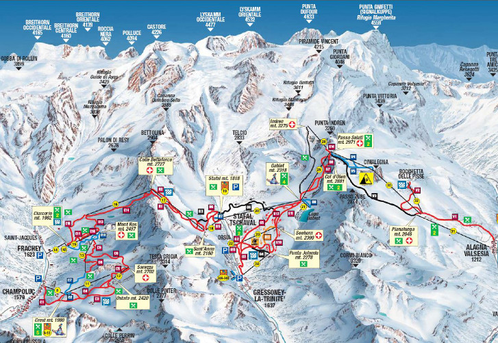 Champoluc et Gressoney sont populaires auprès des skieurs britanniques