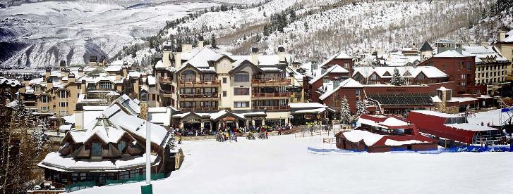 Beaver Creek aux Etats-Unis a des tas d'hôtels en pente