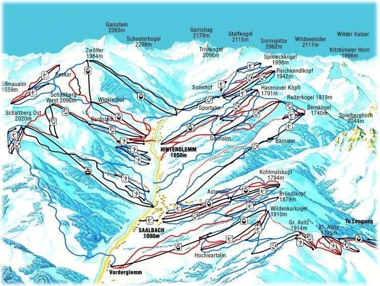 Saalbach Ski Resort Austria Ski Line