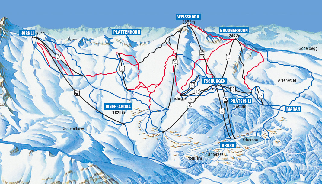 Arosa Ski Resort Switzerland Ski Line
