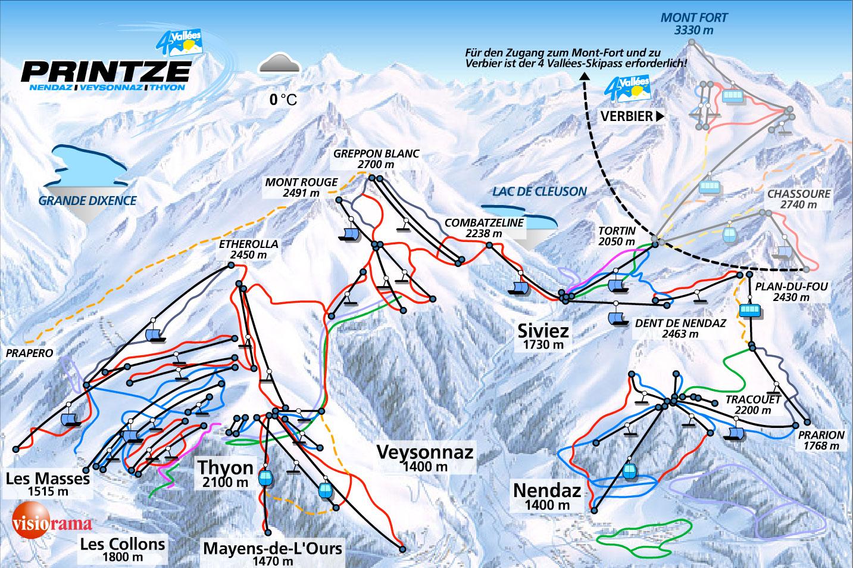 Nendaz Ski Resort Switzerland Ski Line
