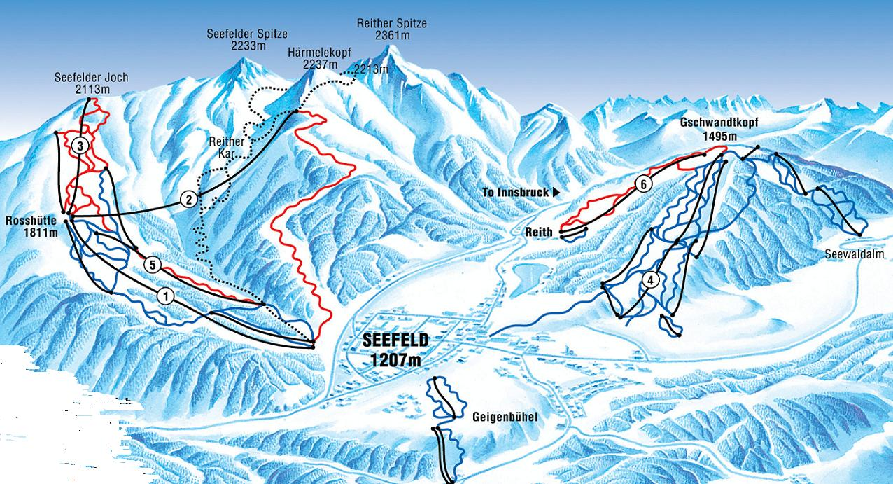 Seefeld Ski Resort Piste Map
