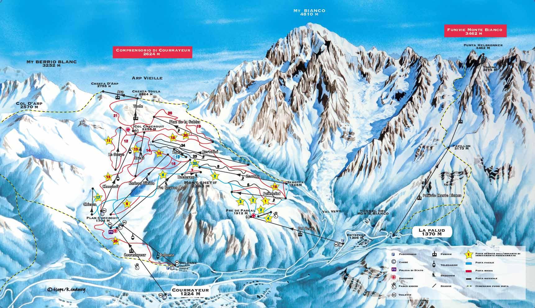 Courmayeur Ski Resort Italy Ski Line
