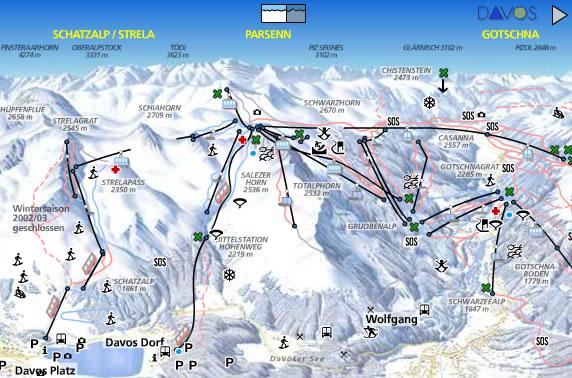 Davos Ski Resort Switzerland Ski Line