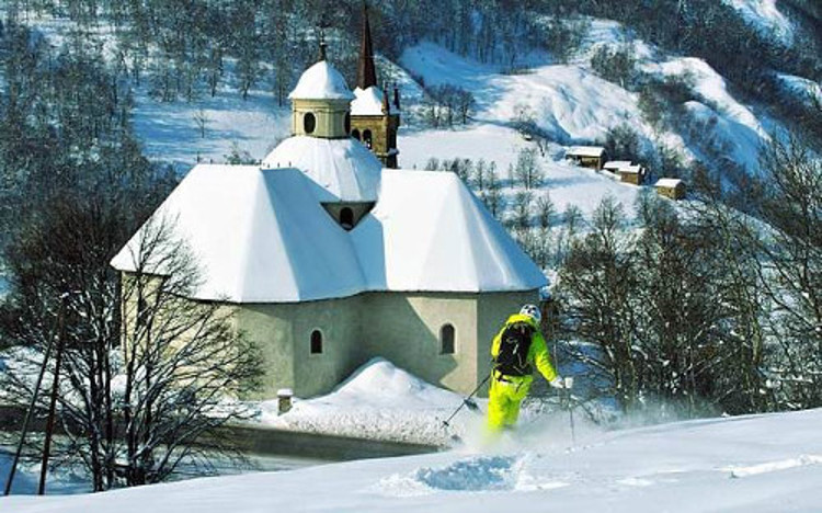 St Martin de Belleville ski resort, France