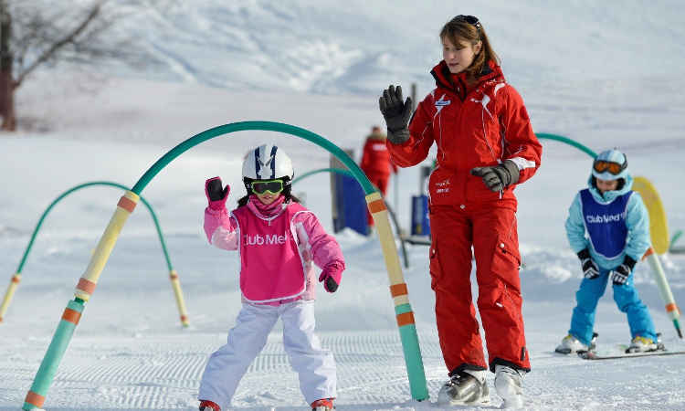 Childcare and all day ski lessons are included