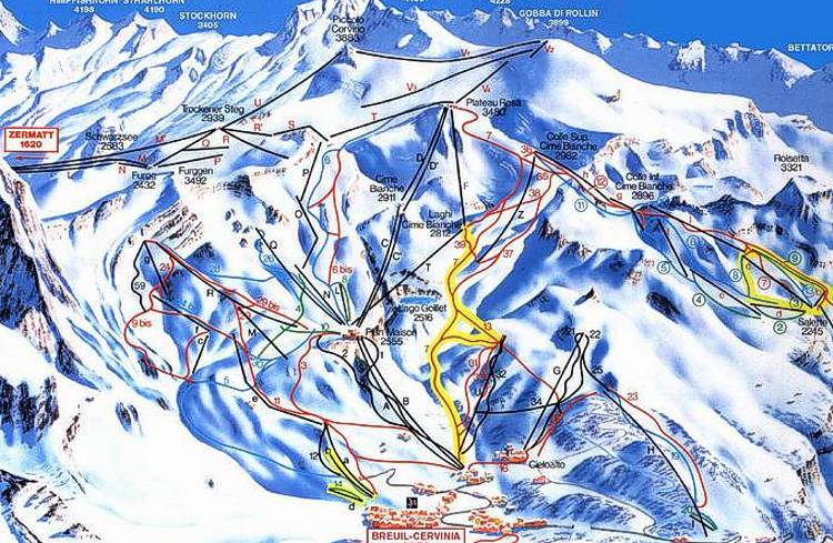 Arabba Ski Resort Piste Map