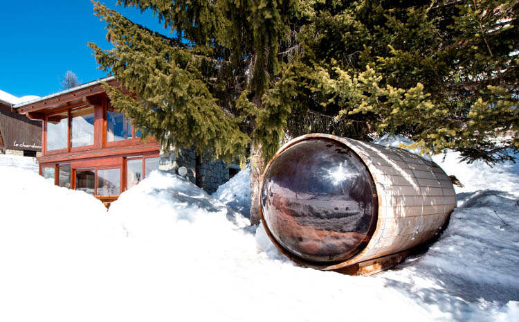 Cosmic Sauna Added to Chalet Cairns, Tignes