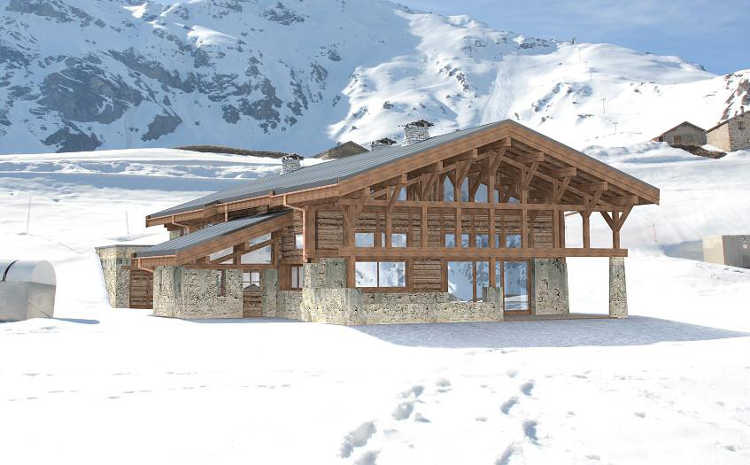 Chalet des Cascades is located right in the middle of the piste, the ski room door opens on to it!