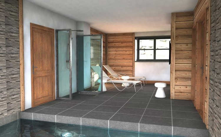 Chalet des Cascades has all the luxury toys you could want, even a small swimming pool
