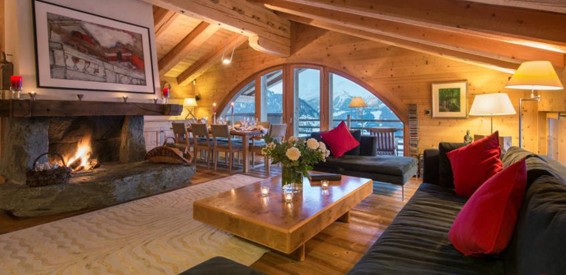 Ski chalet Entre Ciel et Terre in the popular Swiss ski resort of Verbier