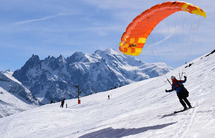 Chamonix flying high