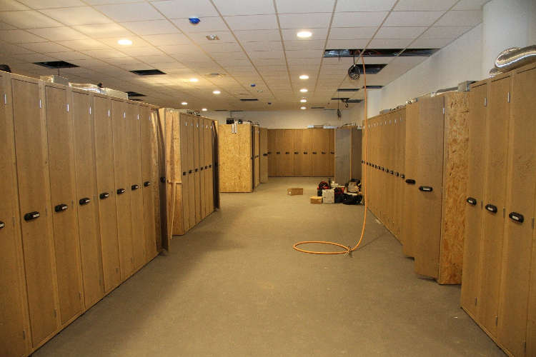 The spacious ski lockers in Club Med Samoens open on to the piste, where you can ski from the door