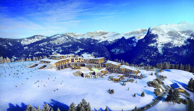 An artist impression of what the new Club Med resort at Samoens will look like