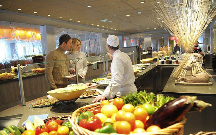 Club Med all-inclusive buffet style meals