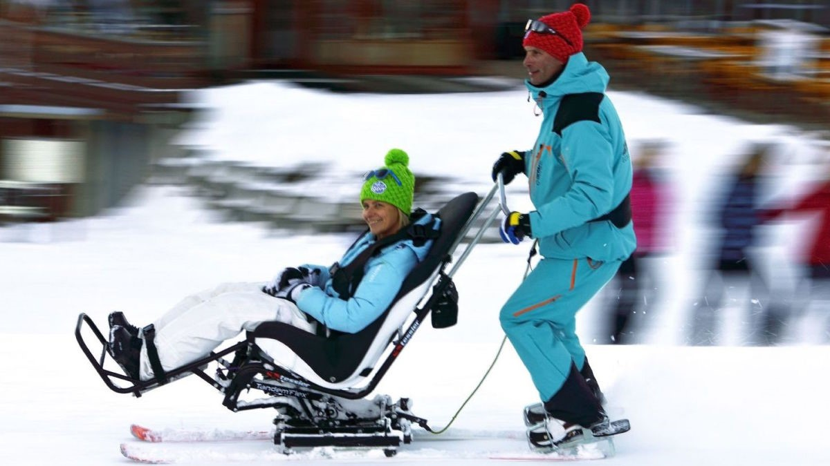 Disabled Skiing In Courchevel