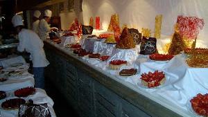 Club Med's desert buffet