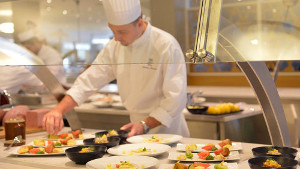 Club Med's buffet meals