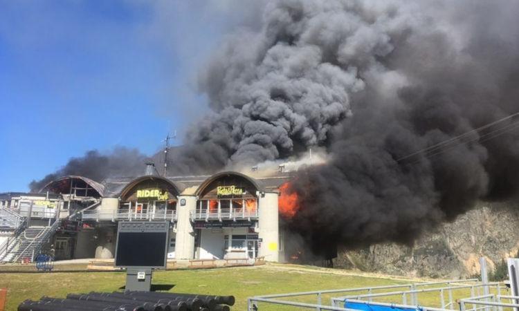 Fire Destroys The Grands Montets Cable Car