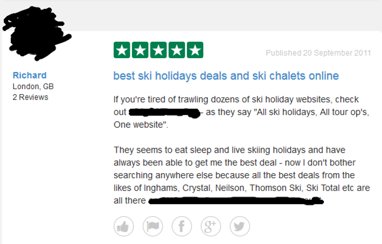Fake ski holiday review