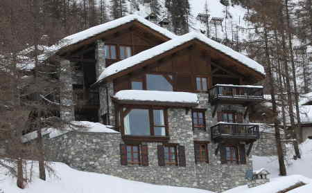 Chalet Cristal A, a luxury ski in ski out chalet in Val d'Isere, sleeps 12