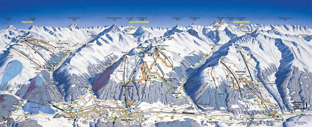 Klosters Ski Resort Piste Map