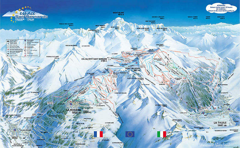 La Rosiere Ski Resort Piste Map