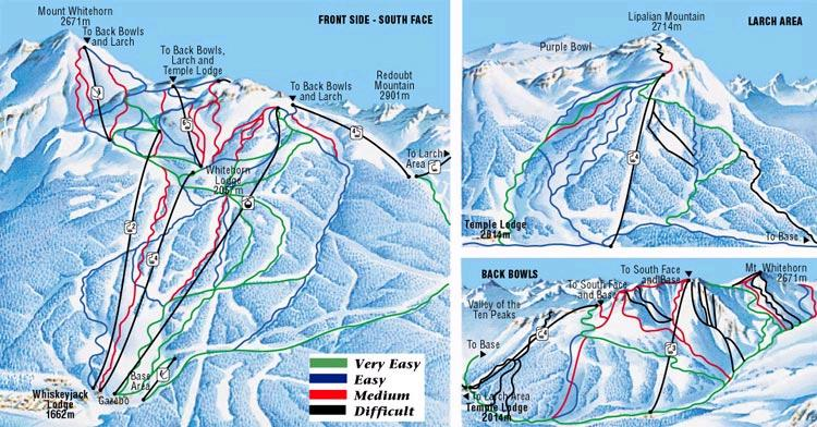 Lake Louise Ski Resort Piste Map