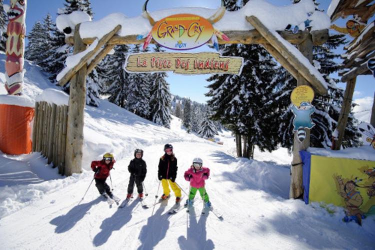 Kid's ski. Grand Cry Les Gets