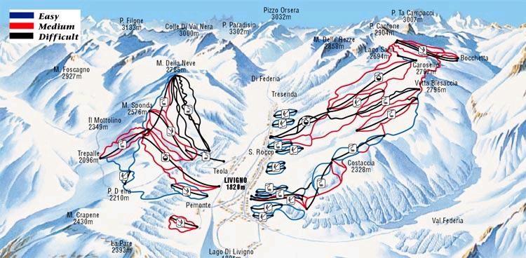 Livigno Italy Map.Ski Holidays Livigno Italy Ski Line