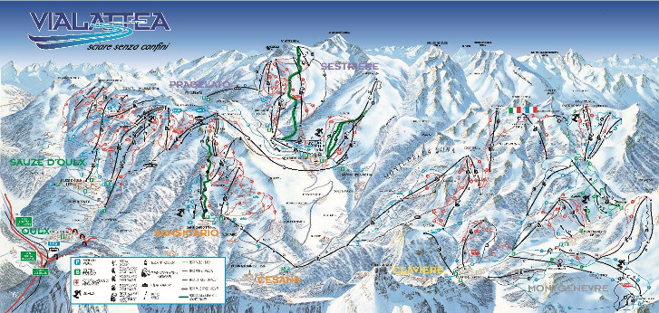 Milky Way Piste Map