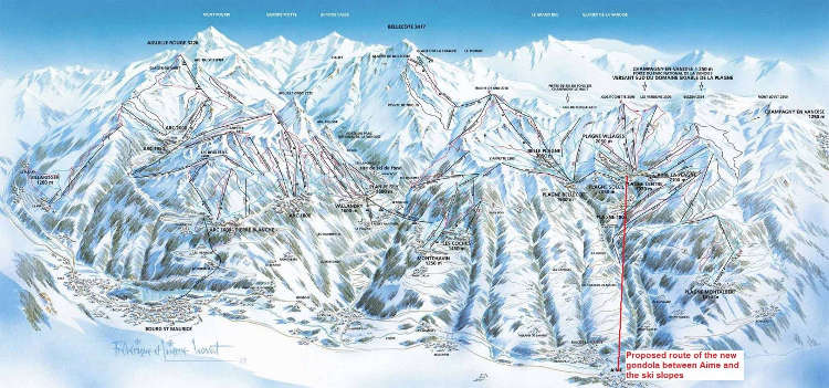Mind the gap between the train and the ski slopes say La Plagne
