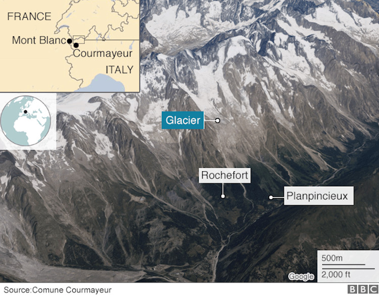 Mont Blanc Glacier In Danger Of Collapse