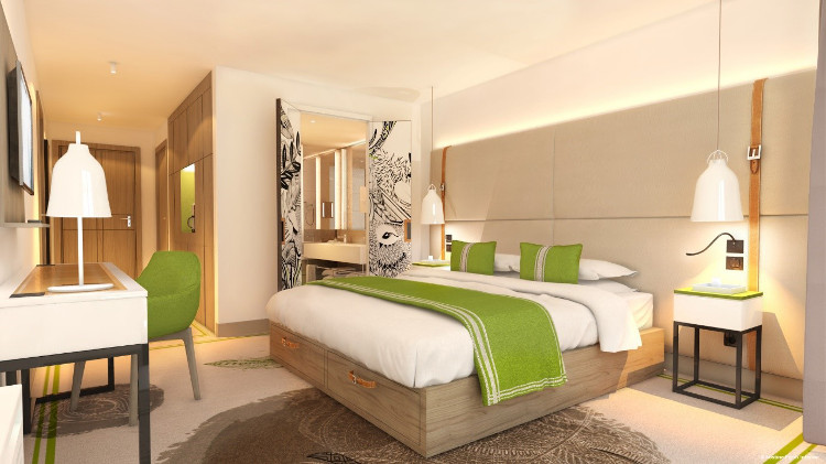 Planned new Club Room at the new Samoëns hotel by Club Med