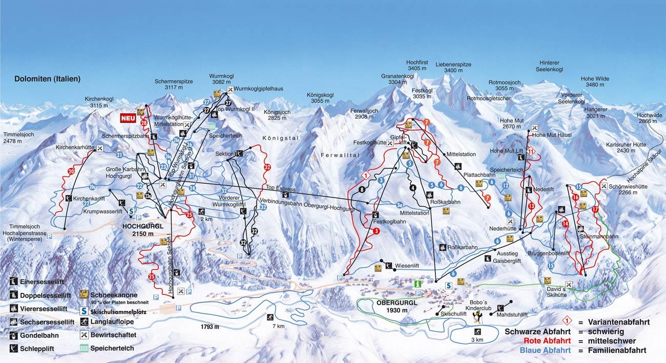 Hochgurgl Ski Resort Austria Ski Line