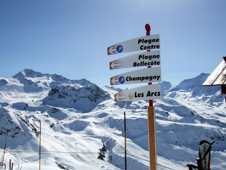 Great signage so you don't have to keep looking at your piste map