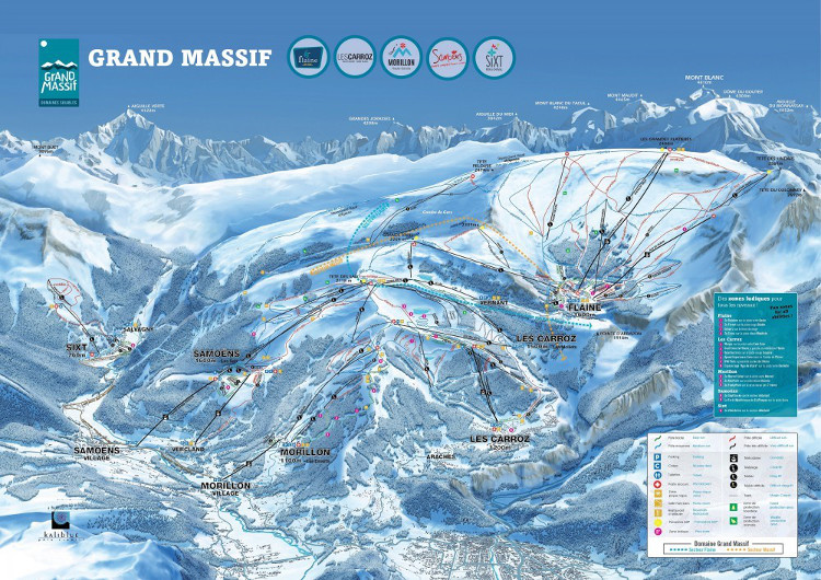 The Grand Massif ski area covers 265km of piste