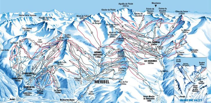 Three Valleys piste map