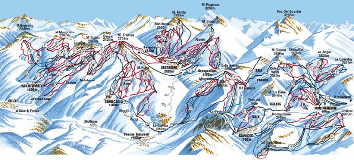 The Milky Way is the most popular ski area in Italy