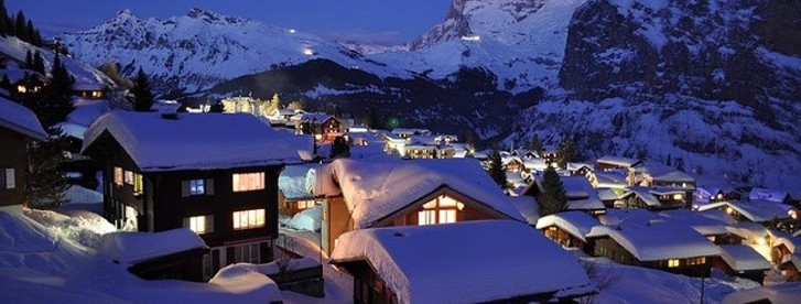 Murren at night is one of Switzerland most eye pleasing ski resorts