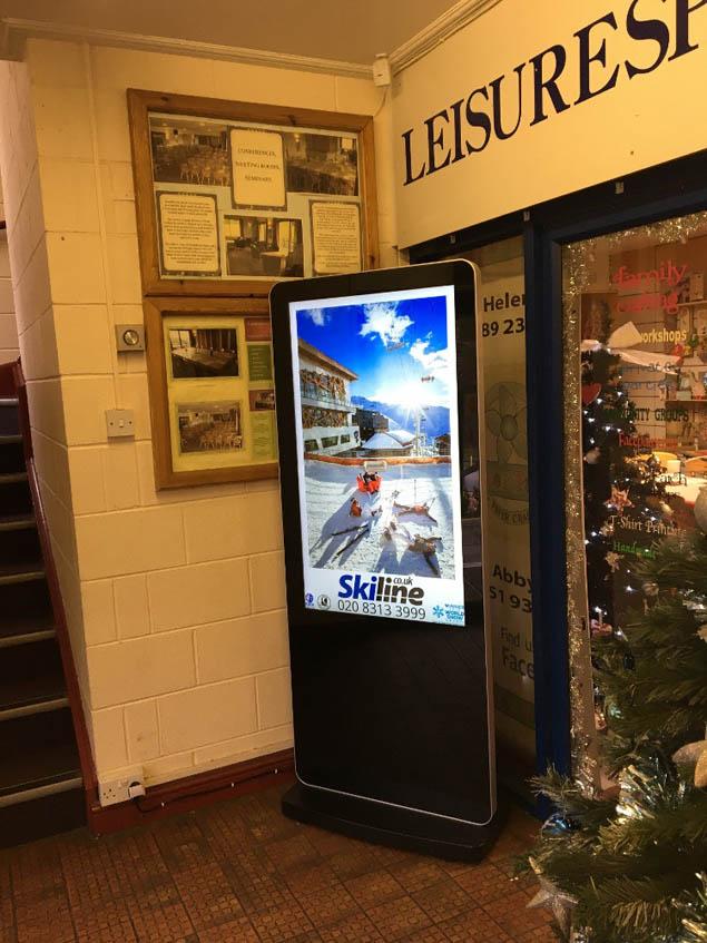 Ski Line ad screen