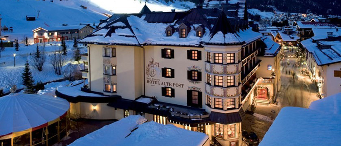 The Hotel Alte Post is a popular choice in St Anton.