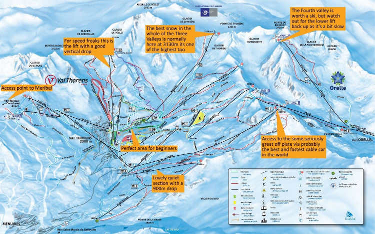 Skiing in the Val Thorens Valley
