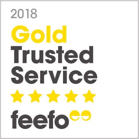 Feefo Gold Trusted Service Award 2018