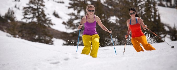 Girls T-Shirt Skiing In The Spring