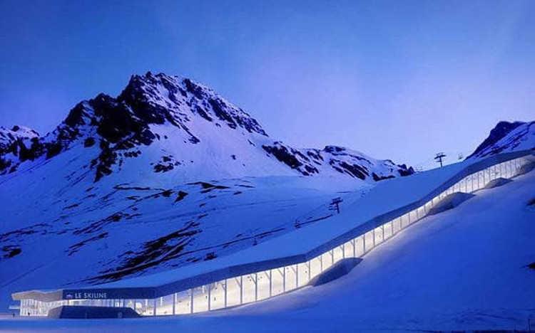 Glacier skiing in Tignes