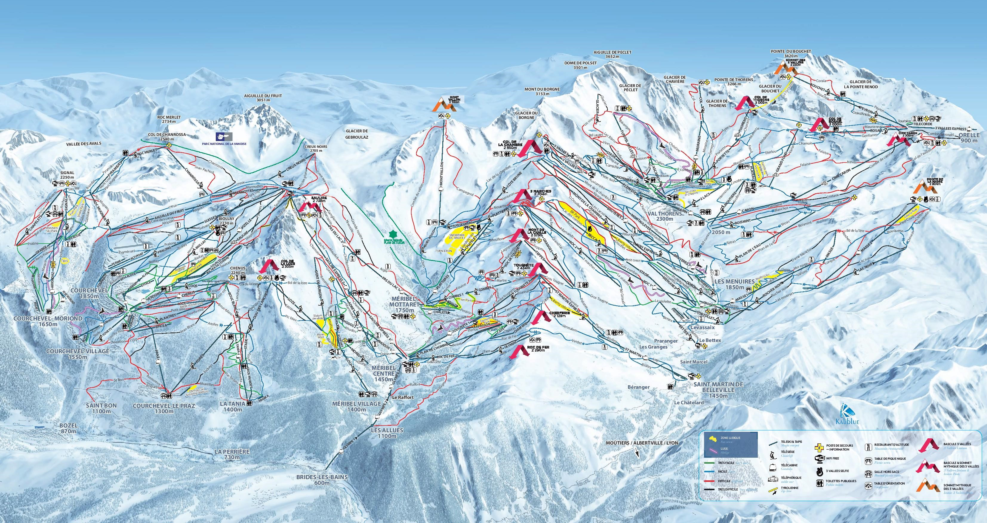 Val Thorens Ski Resort Piste Map