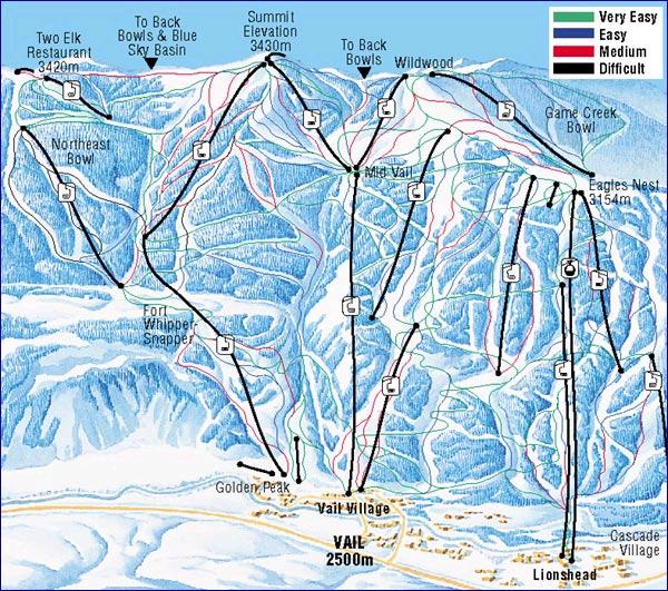 Vail Ski Resort Piste Map